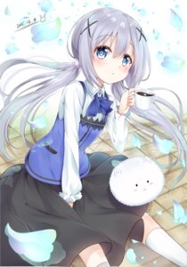 Rating: Safe Score: 57 Tags: gochuumon_wa_usagi_desu_ka? kafuu_chino karumayu tippy_(gochuumon_wa_usagi_desu_ka?) uniform User: Mr_GT