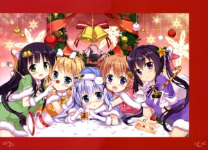 Rating: Safe Score: 42 Tags: christmas dress fujima_takuya gochuumon_wa_usagi_desu_ka? hoto_cocoa kafuu_chino kirima_sharo tedeza_rize ujimatsu_chiya User: drop