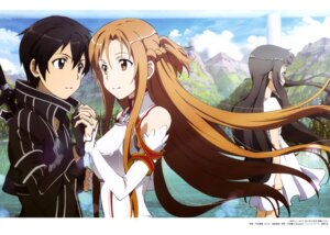 Rating: Safe Score: 31 Tags: armor asuna_(sword_art_online) dress kirito sword_art_online toya_kento yui_(sword_art_online) User: drop