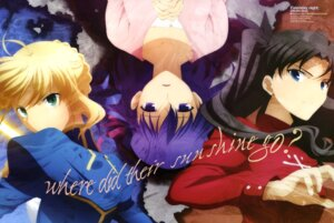 Rating: Safe Score: 18 Tags: fate/stay_night ishizuka_miyuki matou_sakura saber toosaka_rin User: Elow69