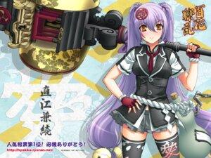Rating: Safe Score: 26 Tags: hyakka_ryouran_samurai_girls naoe_kanetsugu naoe_kanetsugu_(hyakka_ryouran) niθ thighhighs wallpaper User: maurospider