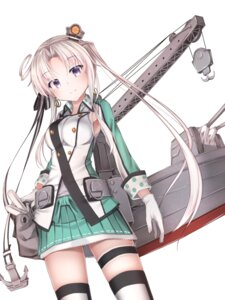 Rating: Questionable Score: 88 Tags: akitsushima_(kancolle) garter kantai_collection seifuku thighhighs waterdog User: sylver650