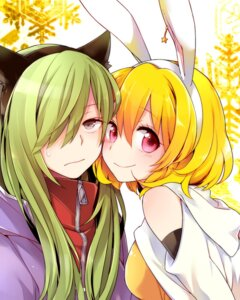 Rating: Safe Score: 20 Tags: animal_ears bunny_ears hutuumikan kagerou_project kido_tsubomi kisaragi_momo nekomimi User: Radioactive