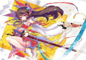 Rating: Safe Score: 64 Tags: hakurei_reimu sword touhou wei_(hoshieve) User: fairyren