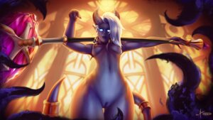 Rating: Explicit Score: 5 Tags: 1vladislav draenei horns monster_girl naked nipples pointy_ears pussy tail uncensored weapon world_of_warcraft User: dick_dickinson