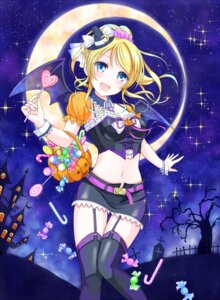 Rating: Safe Score: 56 Tags: ayase_eli halloween love_live! shino_(shinderera) stockings thighhighs wings User: Mr_GT