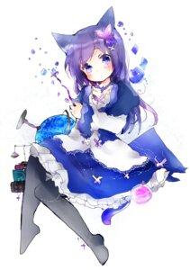 Rating: Safe Score: 35 Tags: animal_ears dress pantyhose show_by_rock!! tail tsukiyo_(skymint) User: KazukiNanako