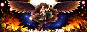 Rating: Safe Score: 10 Tags: invidiata reiuji_utsuho signed thighhighs touhou wings User: charunetra