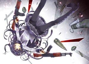 Rating: Questionable Score: 28 Tags: akemi_homura gun pantsu pantyhose puella_magi_madoka_magica yuugen User: Ravenblitz