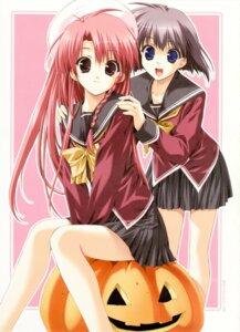 Rating: Safe Score: 11 Tags: boy_meets_girl kasugano_haruna seifuku tsubasa_miu User: admin2