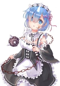 Rating: Safe Score: 17 Tags: cleavage horns maid pantyhose re_zero_kara_hajimeru_isekai_seikatsu rem_(re_zero) weapon yuhuan User: charunetra