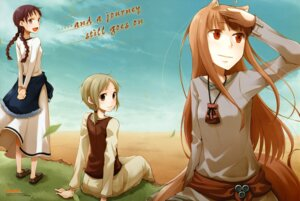 Rating: Safe Score: 17 Tags: animal_ears ayakura_juu chloe holo nora_ardent spice_and_wolf tail User: vita