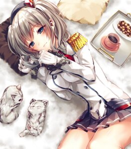 Rating: Safe Score: 70 Tags: kantai_collection kashima_(kancolle) neko saijou_yukina uniform User: Mr_GT