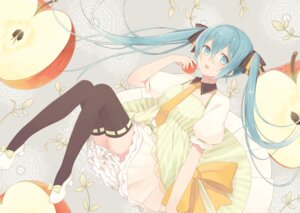 Rating: Safe Score: 37 Tags: dress hatsune_miku minase_nagi thighhighs vocaloid User: zero|fade