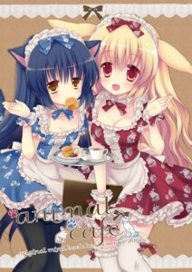 Rating: Questionable Score: 55 Tags: animal_ears cleavage maid mana_(artist) nekomimi thighhighs User: KazukiNanako