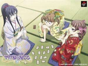 Rating: Safe Score: 8 Tags: fukuzawa_yumi kimono maria-sama_ga_miteru matsudaira_touko ogasawara_sachiko wallpaper User: saemonnokami