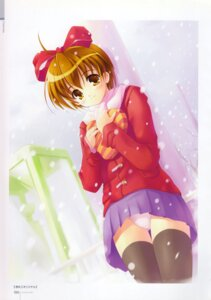 Rating: Questionable Score: 18 Tags: akamaru pantsu thighhighs valentine User: MirrorMagpie