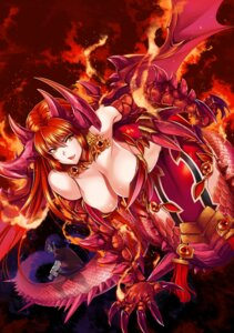 Rating: Questionable Score: 23 Tags: armor bikini_armor cleavage gen_(genetrix) horns monster_girl tail wings User: Mr_GT