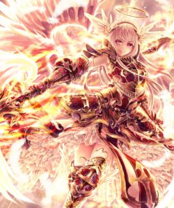 Rating: Safe Score: 60 Tags: angel armor kyara36 thighhighs weapon wings User: Aneroph