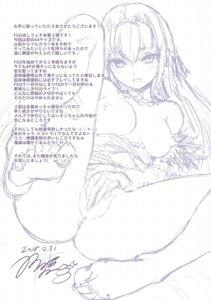 Rating: Questionable Score: 5 Tags: bottomless breasts dksha fate/grand_order feet kase_daiki monochrome nipples no_bra scathach_skadi sketch User: kiyoe