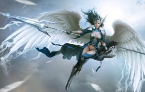Rating: Safe Score: 31 Tags: armor cleavage heels ssamja sword thighhighs weapon wings User: blooregardo