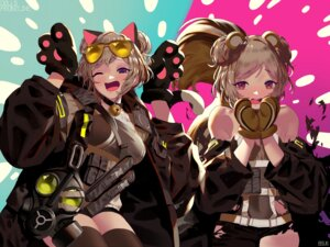 Rating: Questionable Score: 16 Tags: animal_ears bsue girls_frontline megane p90_(girls_frontline) tail thighhighs torn_clothes User: Dreista