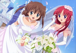 Rating: Safe Score: 16 Tags: asakura_nemu da_capo da_capo_(series) dress shirakawa_kotori wedding_dress User: Popisan
