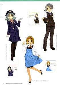 Rating: Safe Score: 5 Tags: kasukabe_shia mibu_natsuki nakayama_yukari ootsuki_miina tetsudou_musume uniform User: fireattack
