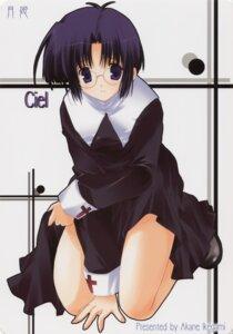 Rating: Safe Score: 12 Tags: ciel ikegami_akane megane nun skirt_lift tsukihime User: waha