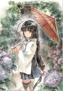 Rating: Safe Score: 26 Tags: japanese_clothes kantai_collection shouhou_(kancolle) tagme thighhighs umbrella User: KazukiNanako