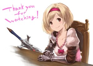 Rating: Safe Score: 21 Tags: armor cleavage djeeta_(granblue_fantasy) fukuhara_tetsuya granblue_fantasy sword tagme User: saemonnokami