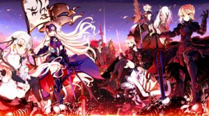 Rating: Safe Score: 78 Tags: armor bodysuit cu_chulainn_alter emiya_alter fate/grand_order fou_(fate/grand_order) heels heroine_x_alter jeanne_d'arc jeanne_d'arc_(alter)_(fate) jeanne_d'arc_(fate) jeanne_d'arc_alter_santa_lily minazuki_randoseru no_bra saber saber_alter sword thighhighs weapon User: animeprincess