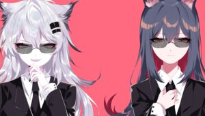 Rating: Safe Score: 15 Tags: animal_ears arknights business_suit lappland_(arknights) megane sheya texas_(arknights) User: Mr_GT