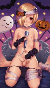 Rating: Explicit Score: 77 Tags: bandages halloween loli nipples otto pantsu panty_pull pussy shirasaka_koume string_panties the_idolm@ster the_idolm@ster_cinderella_girls topless uncensored User: BattlequeenYume
