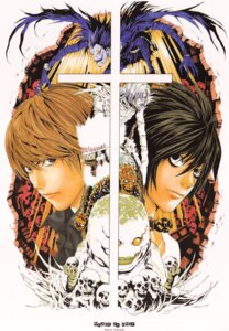 Rating: Safe Score: 5 Tags: death_note l male obata_takeshi ryuk yagami_light User: Radioactive