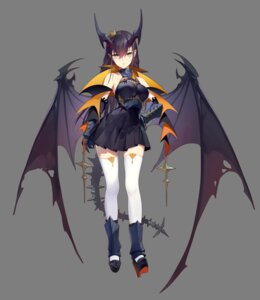 Rating: Questionable Score: 14 Tags: armor heels horns jimolianzhanji pointy_ears tail thank_star thighhighs wings User: Dreista