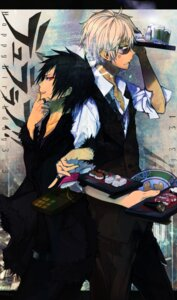 Rating: Safe Score: 15 Tags: durarara!! heiwajima_shizuo male megane orihara_izaya smoking ukai_saki User: Noodoll