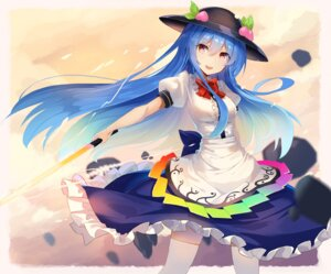 Rating: Safe Score: 31 Tags: hinanawi_tenshi rin_falcon sword thighhighs touhou User: RyuZU