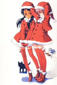 Rating: Safe Score: 25 Tags: aria_vancleef christmas dress kaya_xavier neko oyari_ashito shoujo_mahou_gaku_little_witch_romanesque tagme thighhighs User: shunya