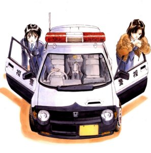 Rating: Safe Score: 8 Tags: fujishima_kousuke kobayakawa_miyuki police_uniform tsujimoto_natsumi you're_under_arrest User: Radioactive