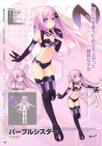 Rating: Safe Score: 69 Tags: choujigen_game_neptune choujigen_game_neptune_mk2 cleavage profile_page purple_sister thighhighs tsunako User: donicila