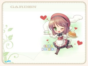 Rating: Safe Score: 7 Tags: cuffs garden hoshino_erika kanekiyo_miwa pantyhose waitress wallpaper User: fireattack