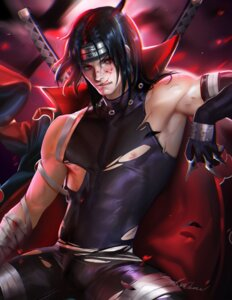 Rating: Questionable Score: 5 Tags: bandages male naruto_shippuden sakimichan signed sword torn_clothes uchiha_itachi User: charunetra
