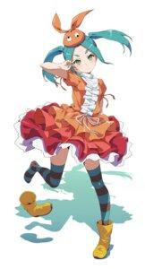 Rating: Safe Score: 20 Tags: asanaya monogatari_(series) ononoki_yotsugi skirt_lift thighhighs User: Munchau