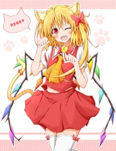 Rating: Safe Score: 34 Tags: animal_ears flandre_scarlet karamone-ze tail thighhighs touhou User: Radioactive