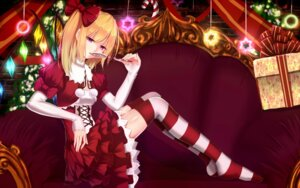 Rating: Safe Score: 38 Tags: bakanoe christmas dress flandre_scarlet thighhighs touhou wings User: sylver650