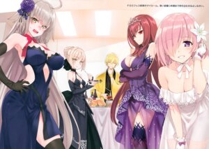 Rating: Safe Score: 80 Tags: cleavage dress fate/grand_order gilgamesh_(fsn) japanese_clothes jeanne_d'arc jeanne_d'arc_(alter)_(fate) jeanne_d'arc_(fate) mash_kyrielight matsuryuu saber saber_alter scathach_(fate/grand_order) see_through thighhighs User: kiyoe