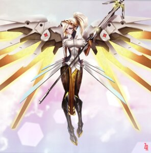 Rating: Safe Score: 44 Tags: armor bodysuit gtxnv heels mercy_(overwatch) overwatch pantyhose weapon wings User: mash