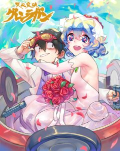 Rating: Safe Score: 15 Tags: blackblades dress mecha nia simon tengen_toppa_gurren_lagann wedding_dress User: Mr_GT