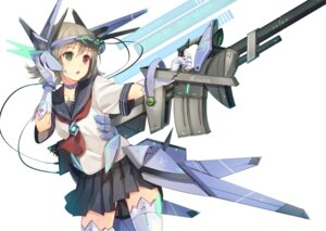 Rating: Safe Score: 43 Tags: heterochromia mecha_musume paseri seifuku thighhighs User: Radioactive